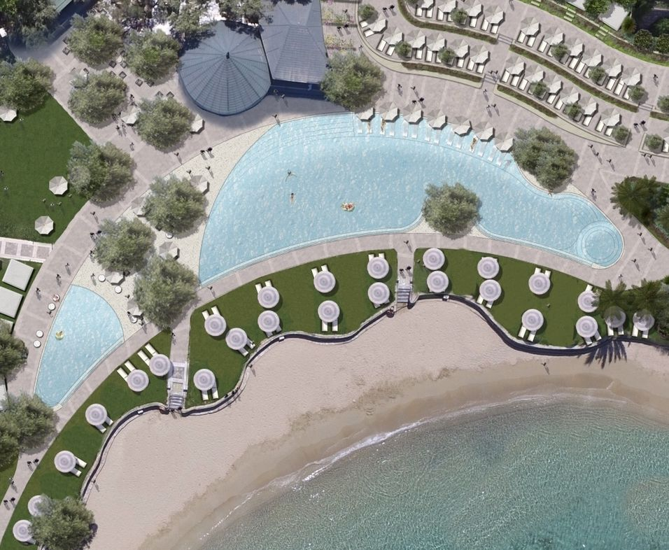 2019: Porto Elounda introduce the largest seafront pools on the